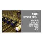 Recording Studio Business Card Pack Of Standard Business Cards