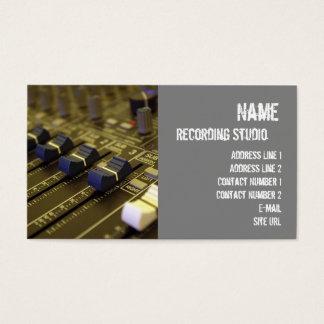 Recording Studio Business Cards & Templates | Zazzle