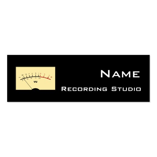Recording Studio Business Card 512 Off Grid In Is