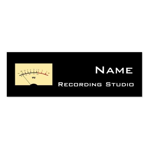 Recording Studio Business Card Zazzle