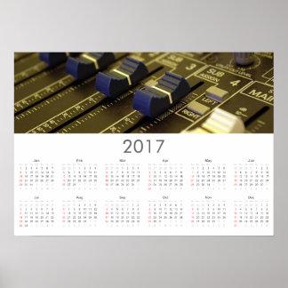 Recording studio Calendar 2017 Poster