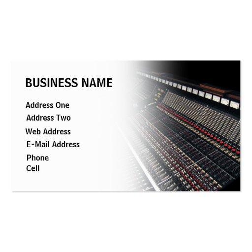 Recording Studio Music Business Card