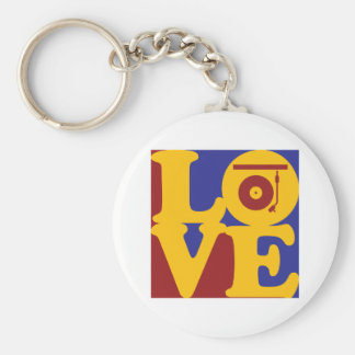Records Love Keychain