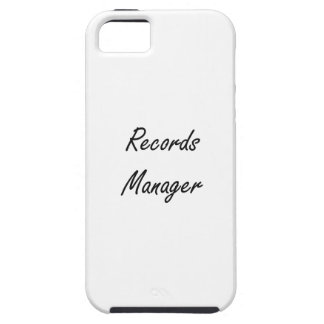 Records Manager Artistic Job Design iPhone 5 Case