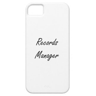 Records Manager Artistic Job Design iPhone 5 Covers