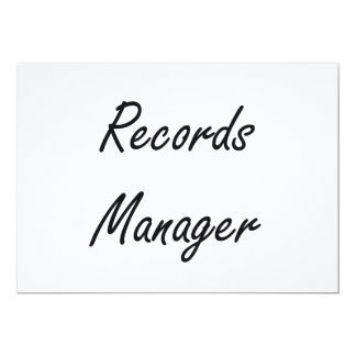 Records Manager Artistic Job Design 5x7 Paper Invitation Card