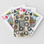 Records on Floor 2 Bicycle Playing Cards