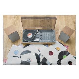 Records on Floor Cloth Placemat