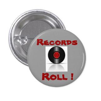 Records Rule ! Pinback Button