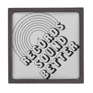 Records Sound Better Premium Keepsake Boxes
