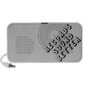 Records Sound Better iPod Speaker