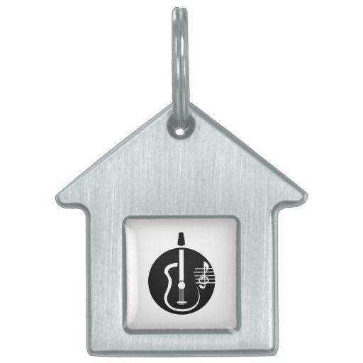 recorte abstracto de la guitarra con notes.png placas de mascota