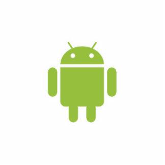Recorte androide del robot fotoescultura vertical
