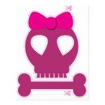 ¡RECORTE! chica rosado del cráneo