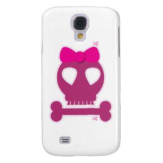 ¡RECORTE! chica rosado del cráneo Funda Samsung S4
