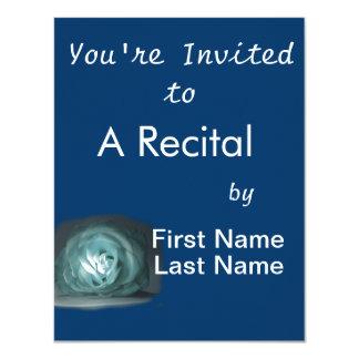 Recorte color de rosa azul claro de Spolighted Invitaciones Personalizada