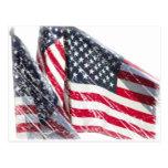 Recorte de la bandera americana postales