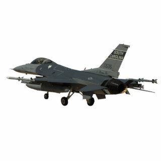 Recorte de la foto del halcón que lucha F-16 Fotoescultura Vertical
