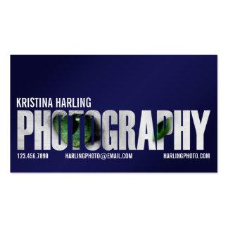 Recorte de la fotografía - azul tarjetas de visita