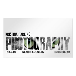 Recorte de la fotografía - blanco tarjetas de visita