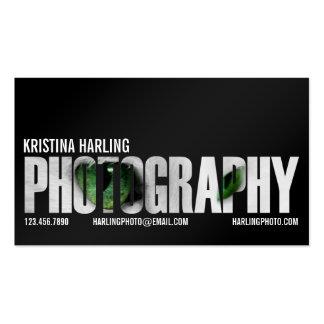 Recorte de la fotografía - negro plantilla de tarjeta de negocio