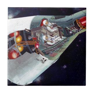 Recorte de la nave espacial de los géminis azulejos cerámicos