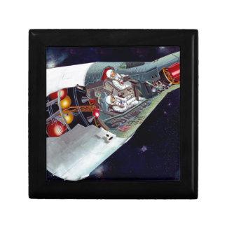 Recorte de la nave espacial de los géminis cajas de joyas
