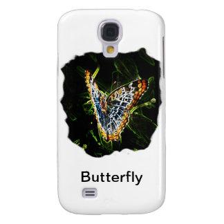 Recorte de los bordes de la mariposa que brilla in carcasa para galaxy s4