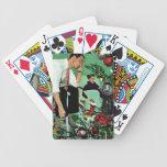 Recorte del árbol barajas de cartas