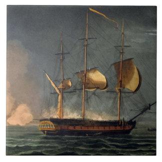 Recorte del Hermione del puerto del Po Azulejo