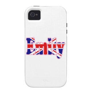 Recorte Emily de Union Jack Vibe iPhone 4 Carcasas