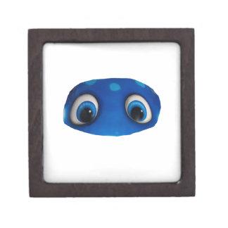 Recorte feliz del azul de los ojos cajas de joyas de calidad