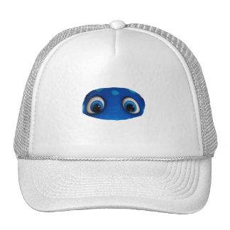 Recorte feliz del azul de los ojos gorro