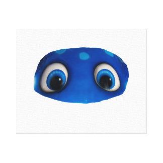 Recorte feliz del azul de los ojos impresión en lona