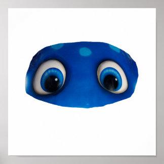 Recorte feliz del azul de los ojos impresiones