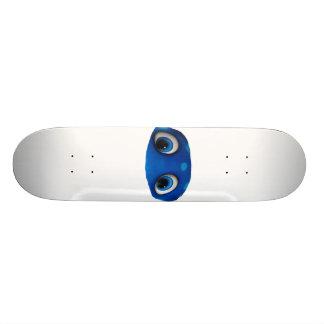 Recorte feliz del azul de los ojos patineta personalizada