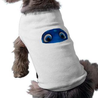 Recorte feliz del azul de los ojos playera sin mangas para perro