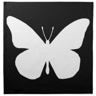 Recorte hermoso de la mariposa de monarca servilletas de papel