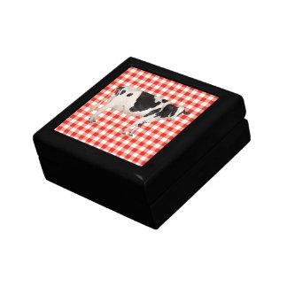 Recorte holandés de la vaca caja de regalo