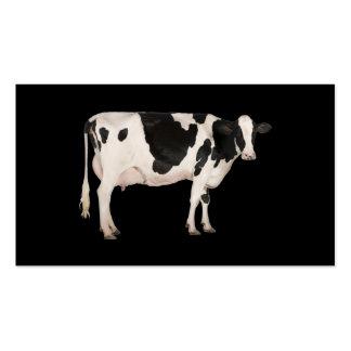 Recorte holandés de la vaca tarjetas de visita