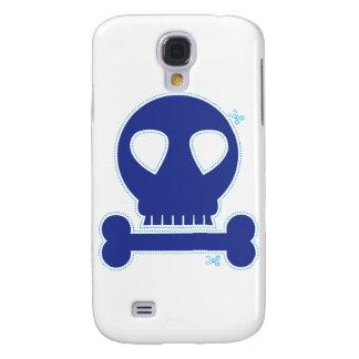 ¡RECORTE! muchacho azul del cráneo Funda Para Galaxy S4