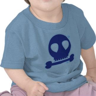 ¡RECORTE! muchacho azul del cráneo Camiseta