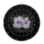 Recorte púrpura de la flor del círculo del molinil tablero dardos