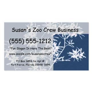 Recorte rígido azul y blanco del gráfico de las ho plantilla de tarjeta personal