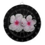 Recorte rosado de la flor del molinillo de viento tablero de dardos