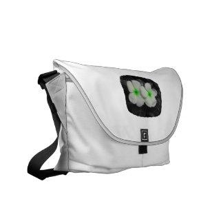 Recorte verde de la flor del círculo del molinillo bolsas de mensajería