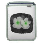 Recorte verde de la flor del círculo del molinillo fundas para iPads