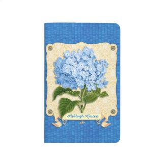 Recortes azules de la teja de la bandera del damas cuaderno