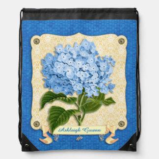 Recortes azules de la teja de la bandera del mochilas