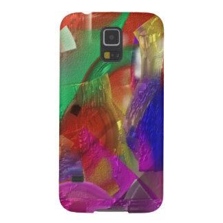 Recortes - pintura abstracta colorida carcasa galaxy s5